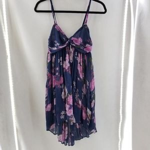 FREE PEOPLE Blue Pink Strappy Empire Waist Top S